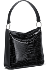 Brighton Cher Shoulderbag - Black Patent Croco