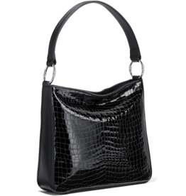 Brighton Cher Shoulderbag - Black Patent Croco