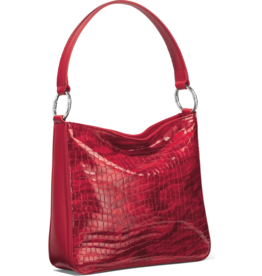 Brighton Cher Shoulderbag - Lipstick Patent Croco