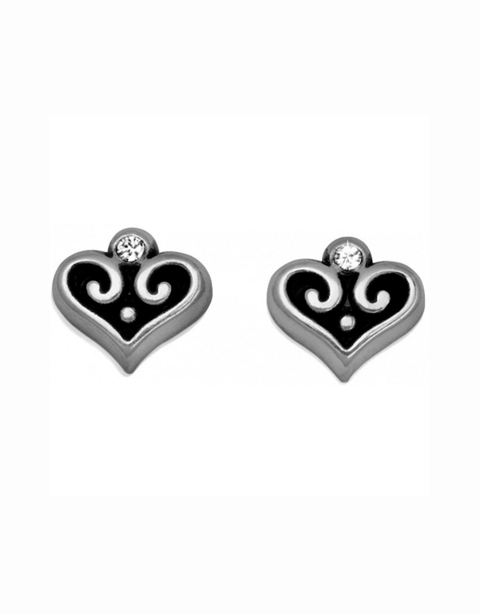 Brighton Alcazar Heart Mini Post Earrings - Silver