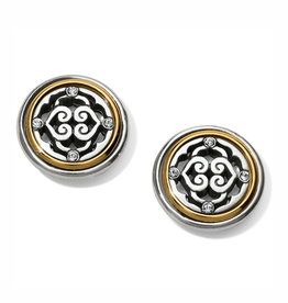 Brighton Intrigue Post Earrings - Silver & Gold