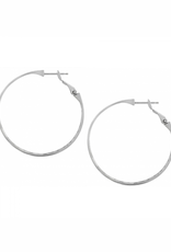 Brighton Contempo Large Hoop Earrings - Silver