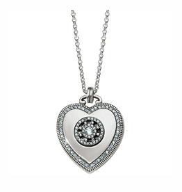 Brighton Illumina Small Heart Locket Necklace - Silver