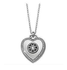 Brighton Illumina Small Heart Locket Necklace - Silver