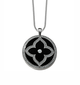 Brighton Toledo Alto Noir Convertible Locket Necklace - Silver & Black