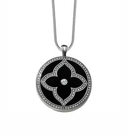 Brighton Toledo Alto Noir Convertible Locket Necklace - Silver & Black