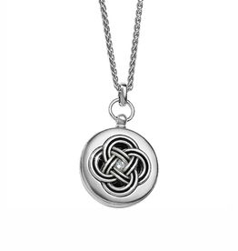 Brighton Interlok Small Round Locket Necklace - Silver