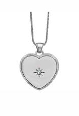 Brighton Bright Morning Star Locket Necklace - Silver