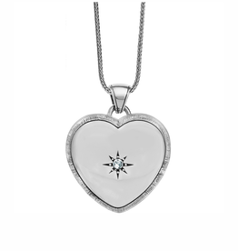 Brighton Bright Morning Star Locket Necklace - Silver
