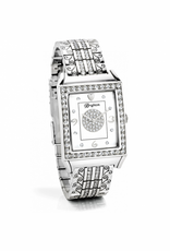 Brighton Diamond Bar Watch - Silver