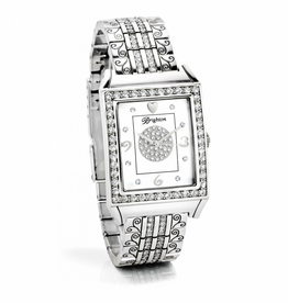 Brighton Diamond Bar Watch - Silver