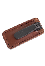 Executive Nail Clippers - Tan Leather Case