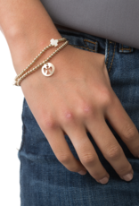 enewton design Classic Gold 3mm Bead Bracelet - Guardian Angel Charm