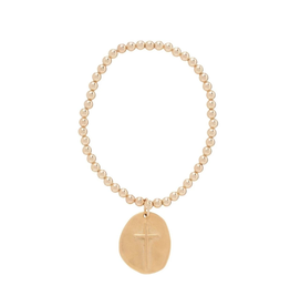 enewton design Classic Gold 4mm Bead Bracelet - Inspire Gold Charm