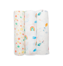 3PK Bamboo Muslin - High In The Sky