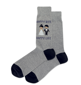 Happy Wife Happy Life Mens Sock