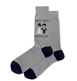 Hot Sox Co. Happy Wife Happy Life Mens Sock