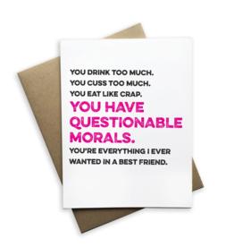 Questionable Morals Card