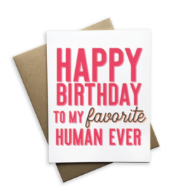 My Favorite Human Card