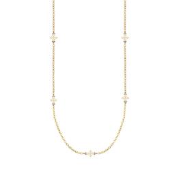 Natalie Wood Designs Believer Long Cross Necklace - Gold