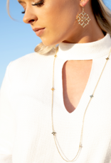 Natalie Wood Designs Believer Long Cross Necklace - Gold