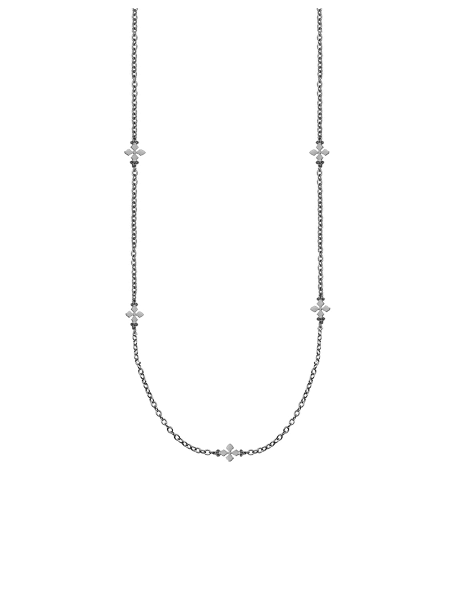 Natalie Wood Designs Believer Long Cross Necklace - Silver