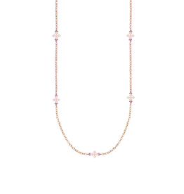 Natalie Wood Designs Believer Long Cross Necklace - Rose Gold
