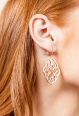 Natalie Wood Designs Believer Small Cross Earrings - Rose Gold