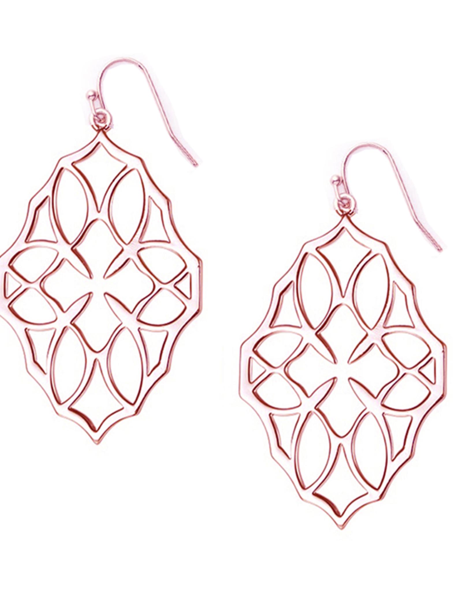 Natalie Wood Designs Believer Large Cross Earrings - Rose Gold