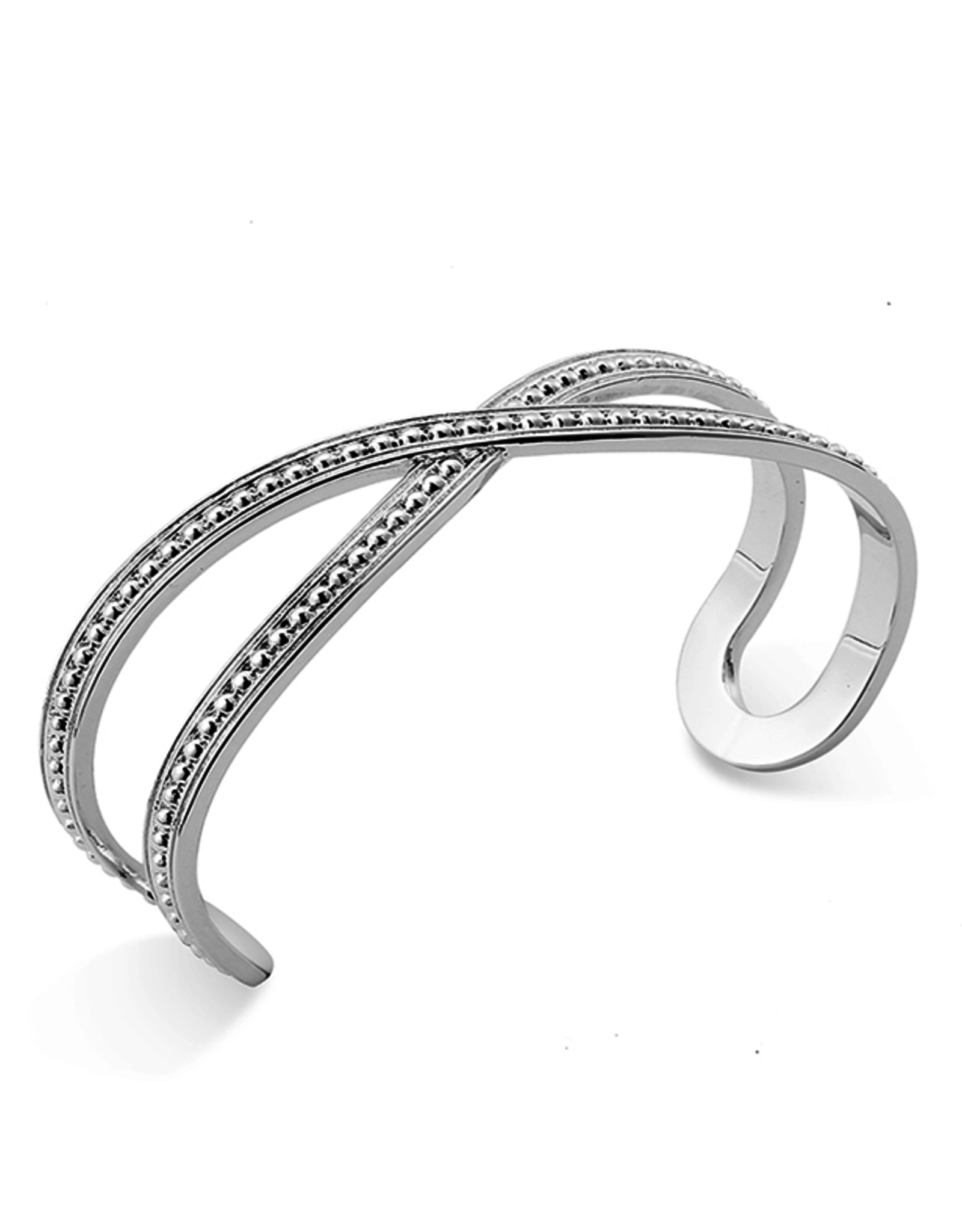Natalie Wood Designs Beaded Cuff Bracelet - Silver