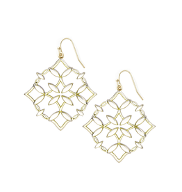 Natalie Wood Designs Grace Drop Earrings - Gold