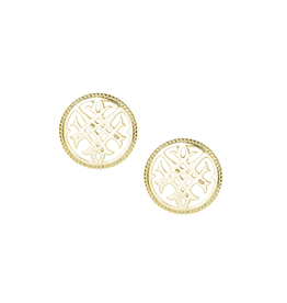 Natalie Wood Designs Circle Logo Stud Earrings - Gold