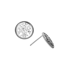 Natalie Wood Designs Circle Logo Stud Earrings - Silver