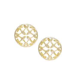 Natalie Wood Designs Grace Stud Earrings - Gold