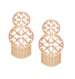 Natalie Wood Designs Grace Statement Earrings - Rose Gold