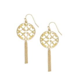 Natalie Wood Designs Grace Mini Tassel Earrings - Gold