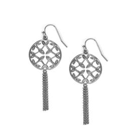 Natalie Wood Designs Grace Mini Tassel Earrings - Silver