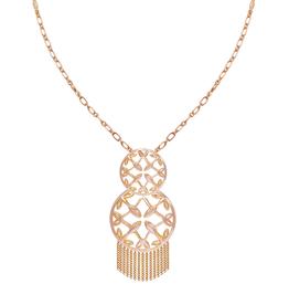 Natalie Wood Designs Grace Tassel Pendant Necklace - Rose Gold