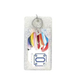 O Venture Silicone Silver Confetti ID Case