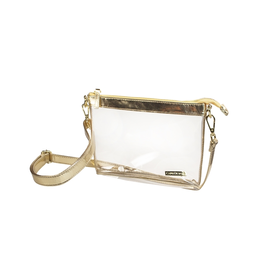 Small Gold Clear Crossbody