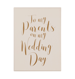 To My Parents - Wedding Notecard Set