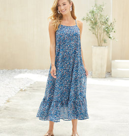 Mudpie Navy Floral Adora Maxi Dress