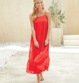 Mudpie Poppy Red Adora Maxi Dress