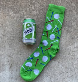 little BLUE  HOUSE Who's Your Caddy Men's Beer Can Socs