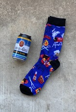 little BLUE  HOUSE License to Grill Men's Beer Can Socks