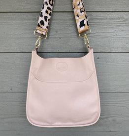 ah dorned Blush Vegan Leather Messenger - Pink Leopard Strap