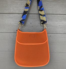 ah dorned Orange Neoprene Messenger - Blue Camo Strap