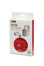 Gifted Elastic Red Ribbon Bands