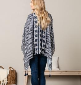 DS Kimono - Indigo Pattern