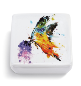 Kaleidoscope Butterfly Lidded Vanity Box